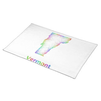Rainbow Vermont map Placemats