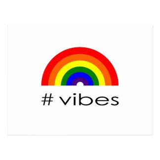 Rainbow vibes postcard