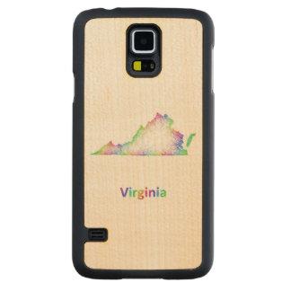 Rainbow Virginia map Maple Galaxy S5 Slim Case