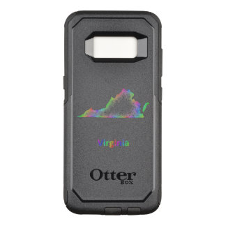 Rainbow Virginia map OtterBox Commuter Samsung Galaxy S8 Case