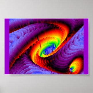 Rainbow Vortex Poster