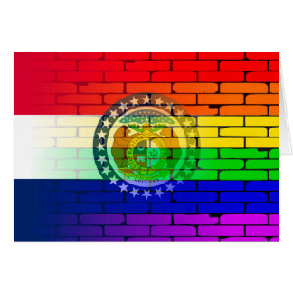 Rainbow Wall Missouri Card