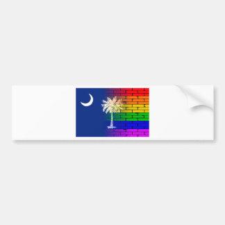 Rainbow Wall South Carolina Bumper Sticker
