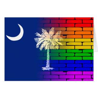 Rainbow Wall South Carolina Card