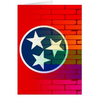Rainbow Wall Tennessee Card