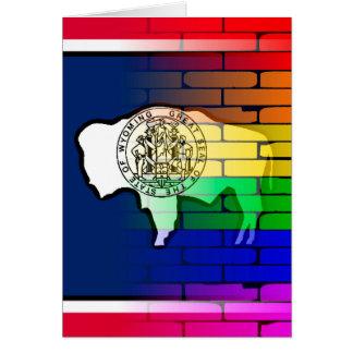 Rainbow Wall Wyoming Card