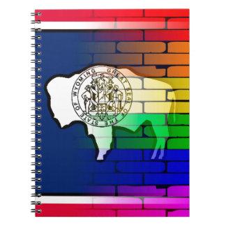 Rainbow Wall Wyoming Notebooks