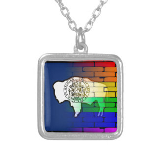 Rainbow Wall Wyoming Silver Plated Necklace