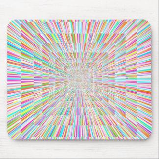 Rainbow Warp Speed Mouse Pad