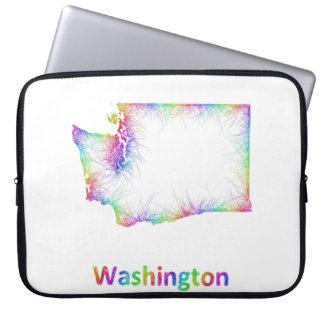 Rainbow Washington map Laptop Sleeve