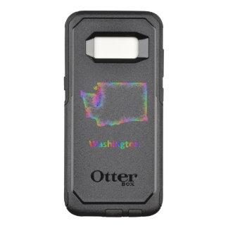 Rainbow Washington map OtterBox Commuter Samsung Galaxy S8 Case