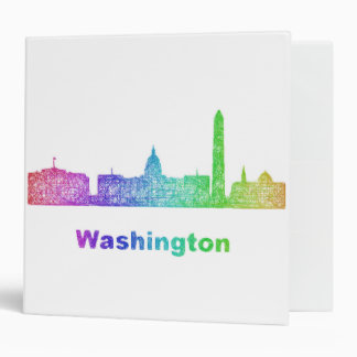 Rainbow Washington skyline Binder