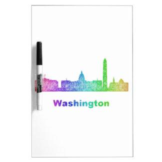Rainbow Washington skyline Dry-Erase Boards