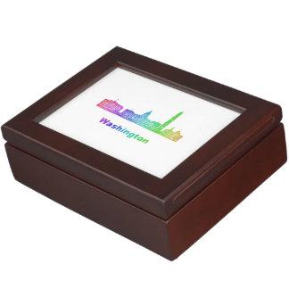 Rainbow Washington skyline Memory Box
