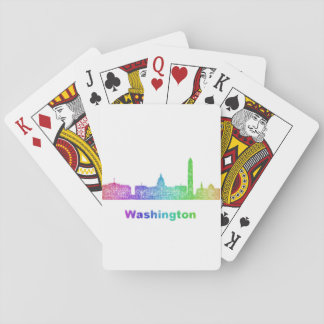 Rainbow Washington skyline Poker Deck
