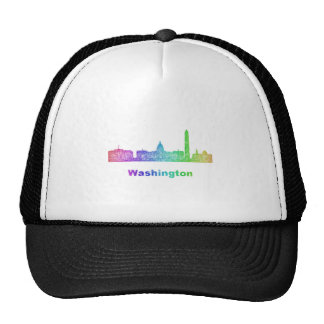 Rainbow Washington skyline Trucker Hat