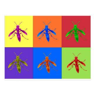 Rainbow Wasps Postcard