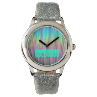 Rainbow Watch. Holographic! Add Name or Logo! Watch