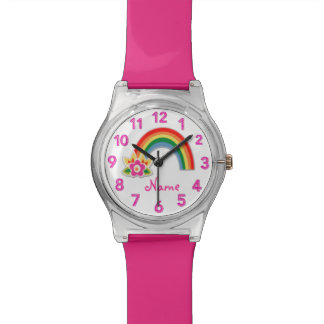 Rainbow Watch Personalized Watches for Girls
