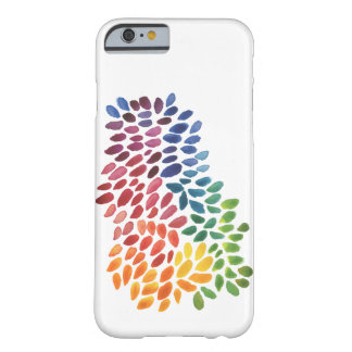 Rainbow Watercolor Abstract Dots Barely There iPhone 6 Case