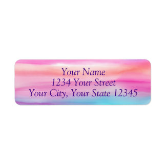 Rainbow Watercolor Address Label