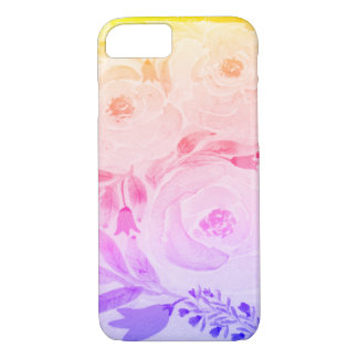 Rainbow Watercolor Floral iPhone 7 Case