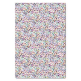 Rainbow Watercolor Paint Polka Dots Tissue Paper