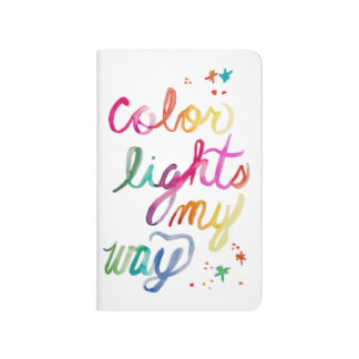 Rainbow Watercolor Script Art Notebook Journal