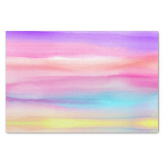 Rainbow Watercolor Tissue Paper