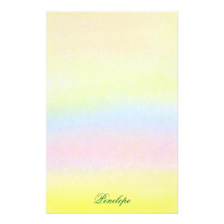 Rainbow Watercolor Wash with Name Stationery