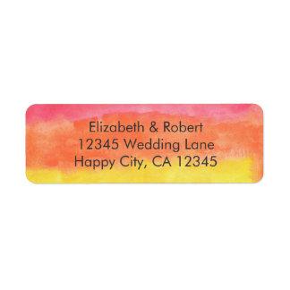 Rainbow Watercolor Wedding