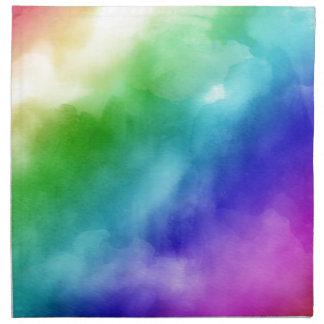 Rainbow Watercolors Napkin