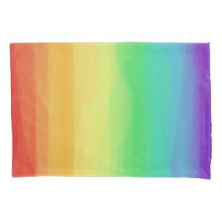 Rainbow Watercolors Pillowcase