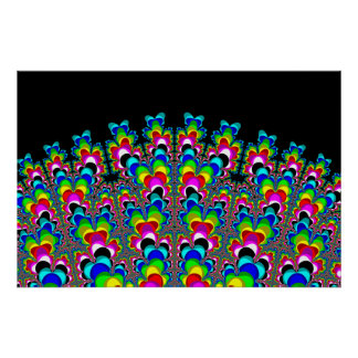 Rainbow Waterfall - Fractal Art Poster