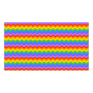 Rainbow Wave Stripes. Business Card Template