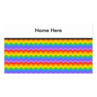 Rainbow Wave Stripes. Business Card Templates