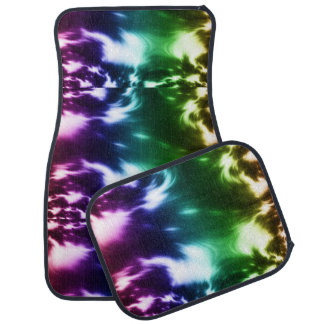 Rainbow Waves Car Mat