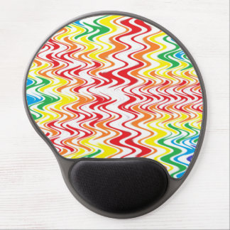 Rainbow Waves Gel Mouse Pad
