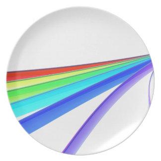 Rainbow waves plate