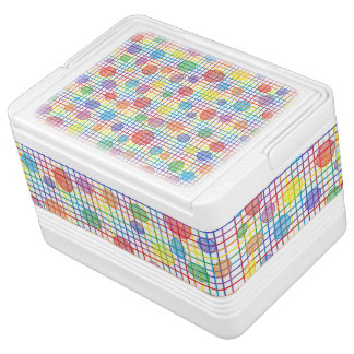 Rainbow Weave and Polka Dots Can Cooler