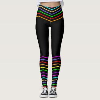 Rainbow Weave Leggings, M (8-10) Leggings