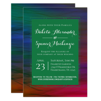 Rainbow Wedding Colorful Vibrant Bold Watercolor Card