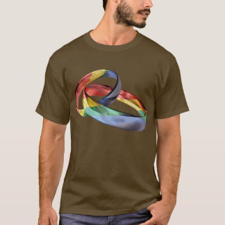 Rainbow Wedding Rings for Marriage Equality T-Shirt