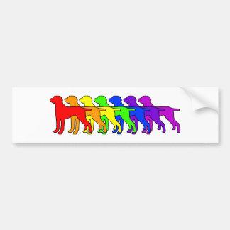Rainbow Weimaraner Bumper Sticker