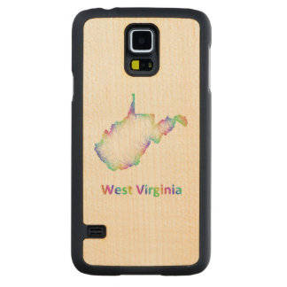 Rainbow West Virginia map Maple Galaxy S5 Slim Case