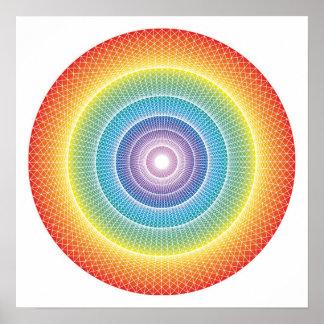 Rainbow Wheel #3 Poster