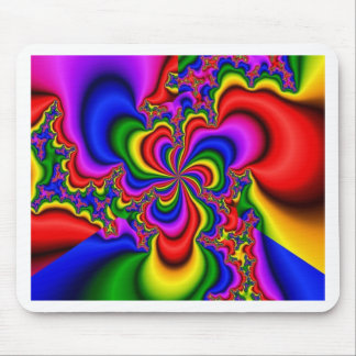 rainbow wheel fractal art mouse pad