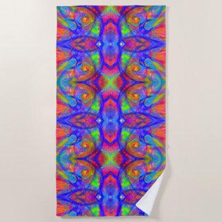 Rainbow Wild Color Abstract Beach Towel | Bright