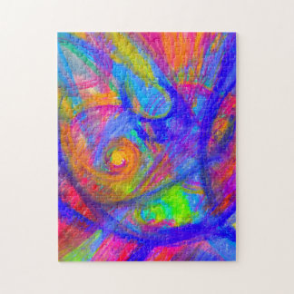 Rainbow Wild Color Pastel Jigsaw Puzzle | Abstract