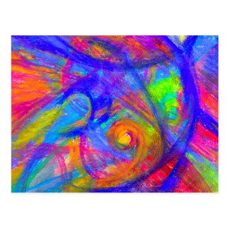 Rainbow Wild Postcard | Abstract Pastel Chalk Art